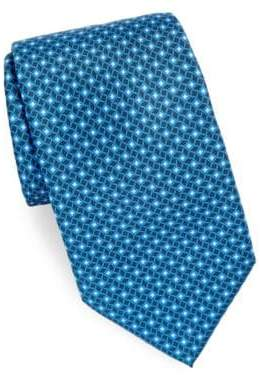 Brioni Geometric Azure Silk Tie