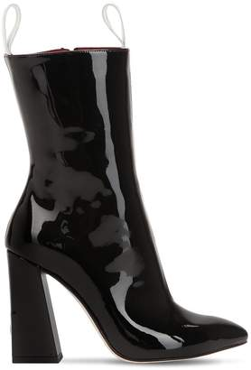 H&M 100mm Logo Patent Leather Boots