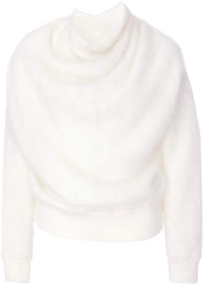 Yeon Naomi White Angora Sweater