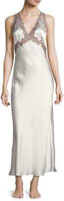 Josie Natori Lillian Long Silk Nightgown