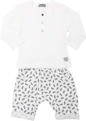 Cotton Jersey T-Shirt & Sweatpants