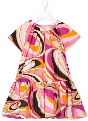 Emilio Pucci Junior pleated print dress