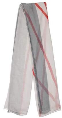 Calvin Klein Collection Printed Chiffon Scarf
