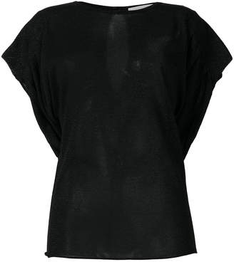Circus Hotel ruched glitter T-shirt