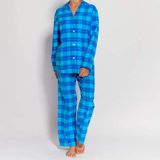 8e8fef61cf3 BRITISH BOXERS Women s Pyjamas In Aqua Tartan Flannel