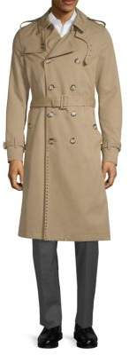 Valentino Studded Double-Breasted Trench Coat