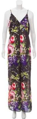 Jay Godfrey Sleeveless Floral Jumpsuit
