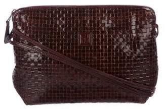 7cae142f154b Fendi Vintage Woven Leather Crossbody Bag