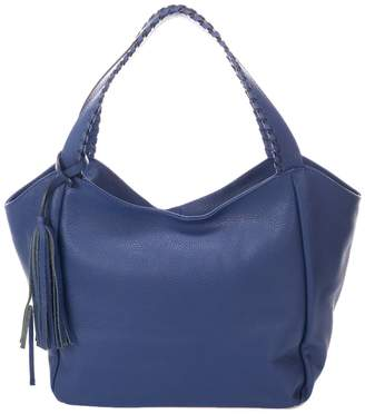 Giulia Massari Leather Tassel Hobo Bag