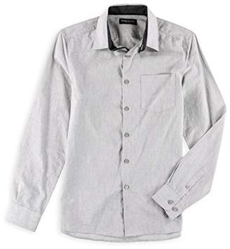 Kenneth Cole New York Men's Long Sleeve Slim 1 Pocket Heather