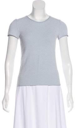 Armani Collezioni Textured Short Sleeve Top