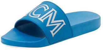 MCM Men's Rubber Logo Slide Sandal