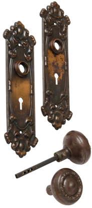 Rejuvenation Classical Revival Door Set w/ Japanned Copper Finish