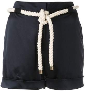 Monse tie waist shorts
