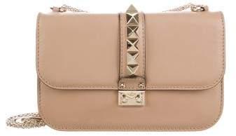 Valentino Rockstud Lock Flap Shoulder Bag
