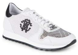 Roberto Cavalli Logo Studded Sneakers