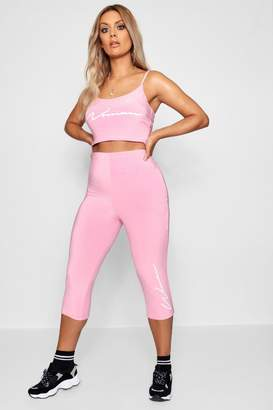 boohoo Woman Double Slinky 3/4 Legging