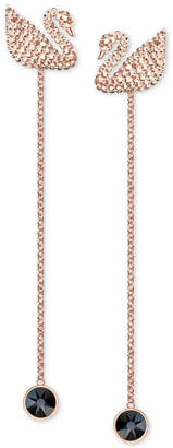 Swarovski Rose Gold-Tone Crystal Swan Ear Jacket Earrings