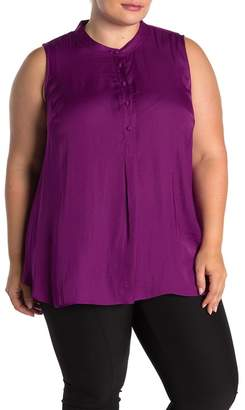 Vince Camuto Sleeveless Rumple Henley Tunic (Plus Size)