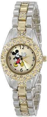 Disney Women's MK2056 Mickey Mouse Sunday Dial Two-Tone Bracelet Watch