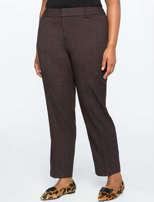 ELOQUII Kady Fit Plaid Pant