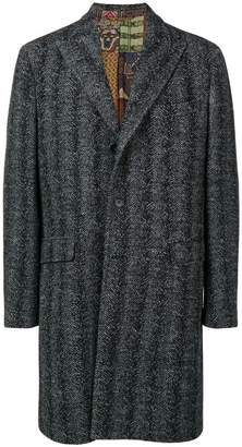 Etro herringbone single-breasted coat