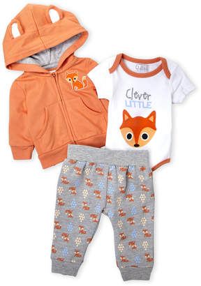 Quiltex (Newborn Boys) 3-Piece Hoodie, Bodysuit & Sweatpants Set
