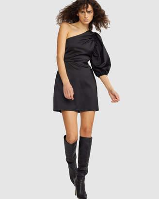 Cynthia Rowley Montrose Stretch Satin One Sleeve Dress