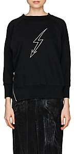 Givenchy Women's Graphic Cotton Terry Sweatshirt - Black