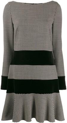 Talbot Runhof contrast short dress