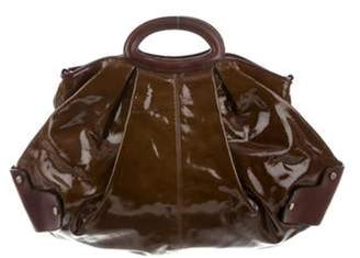 Marni Patent Leather Balloon Bag Brown Patent Leather Balloon Bag
