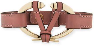 Valentino Rockstud Leather Cuff Bracelet