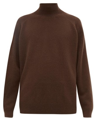 Raey Loose Fit Funnel Neck Cashmere Sweater - Mens - Brown