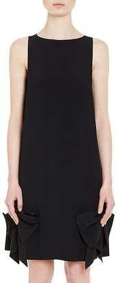 Prada Women's Bow-Accented Crepe Shift Dress