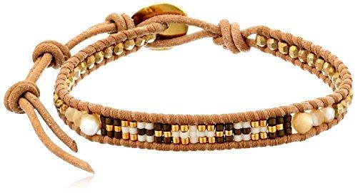 Chan Luu Nat 14k Gold and Amber Beaded Bracelet