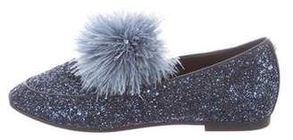 MICHAEL Michael Kors Glitter Round-Toe Loafers