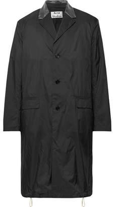Acne Studios Sagan Organza-Trimmed Nylon-Ripstop Coat