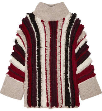Eleven Paris SIX - Uma Fringed Alpaca-blend Turtleneck Sweater - Red