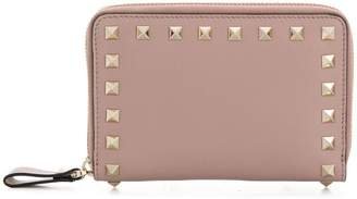 Valentino Rockstud medium zip-around wallet