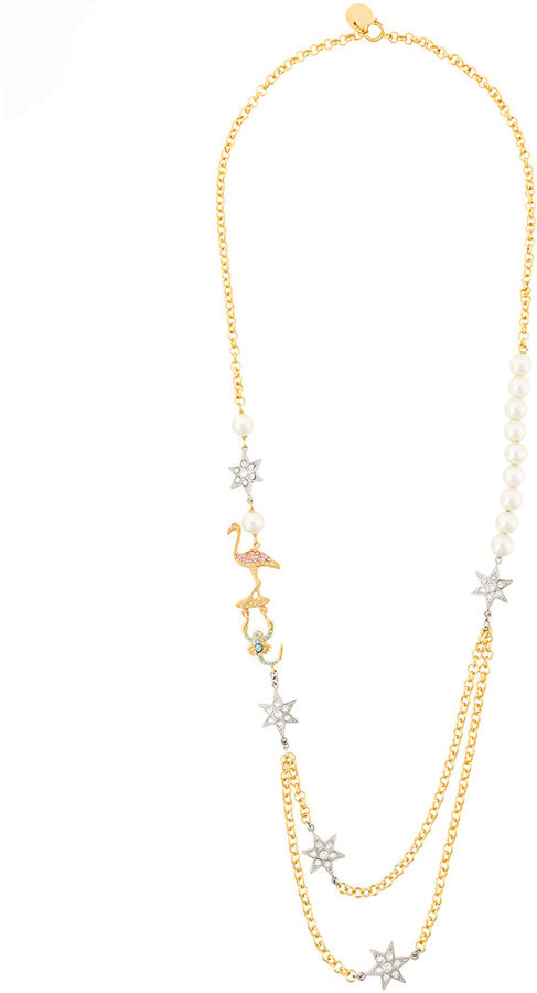 Miu Miu Miu Miu pearl embellished necklace
