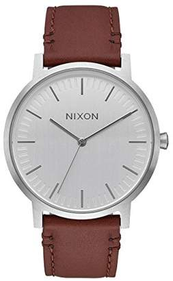 Nixon Men's 'Porter' Quartz Metal and Leather Watch