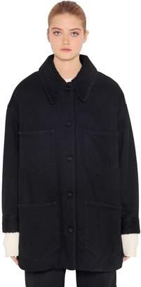 MM6 MAISON MARGIELA Oversized Shearling & Denim Jacket