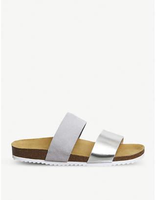 Office Oslo 2 suede metallic slider sandals