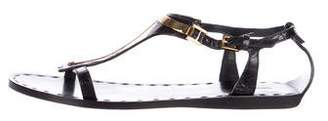 Tom Ford Leather T-Strap Sandals