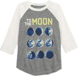 Peek Moon & Back Glow in the Dark Raglan T-Shirt