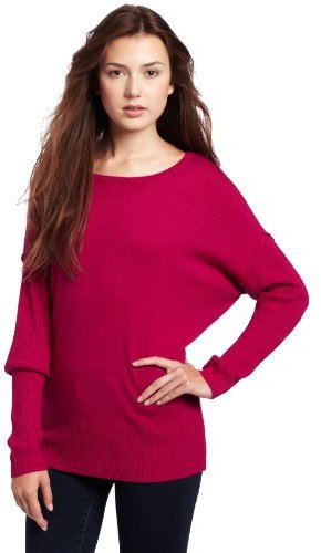 Michael Stars Women's Cashmere Blend Drop Shoulder Pullover Sweater