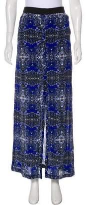 A.L.C. Printed Silk Maxi Skirt