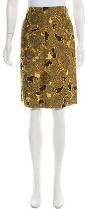 Derek Lam Jacquard Knee-Length Skirt