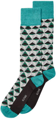 Alfani AlfaTech by Men's Triangles Dress Socks