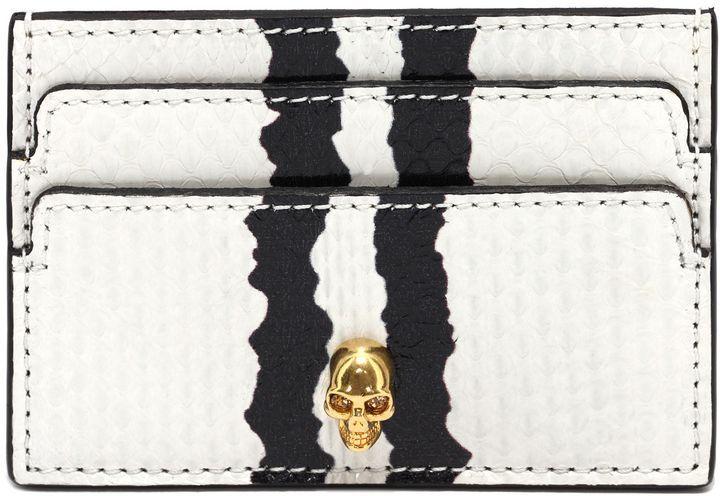 Alexander McQueen Graphic Snake Skull Card Holder